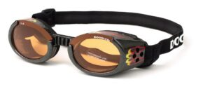 Black Dog Goggles With Flames
