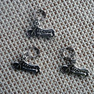 Motorcycle Theme Biker Dog Collar Charm