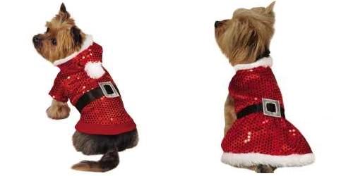 Santa Claus Dog Clothing Fun For The Season