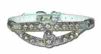 Majestic Split Filigree Post Design Jeweled Dog Collar