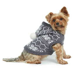 Chenille Hoodie Dog Sweater