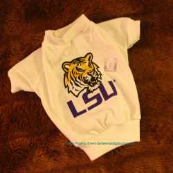 LSU Tigers Dog Tee Shirt With Logo