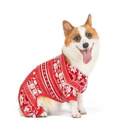 Fair Isle Red Fleece Dog Pajamas