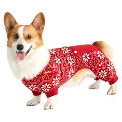 Fair Isle Red Print Dog Pajamas by Bee & Willow™