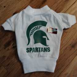 Michigan State Spartans Dog Tee Shirt