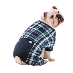 Blue Plaid Dog Pajamas