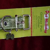 Lime Green Glitter Dog Collar
