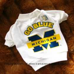 Michigan Wolverines Dog Tee Shirt Medium