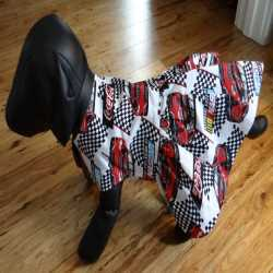 NASCAR Theme Dog Sun Dress Size Small