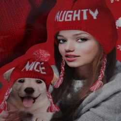Dog And Parent Matching Naughty And Nice Hat Set