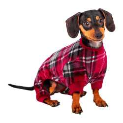 Red and Black Plaid Dog Pajamas