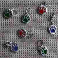 Puppy Paw Print Dog Collar Charm