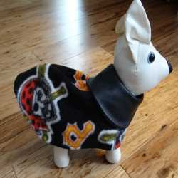 Pittsburgh Pirates Fleece Dog Coat XXS Size