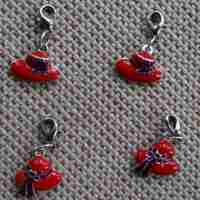 Red Hat Society Dog Collar Charm